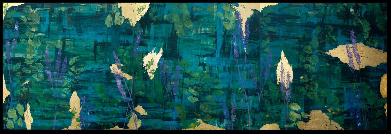 Student artwork of a lavender landscape