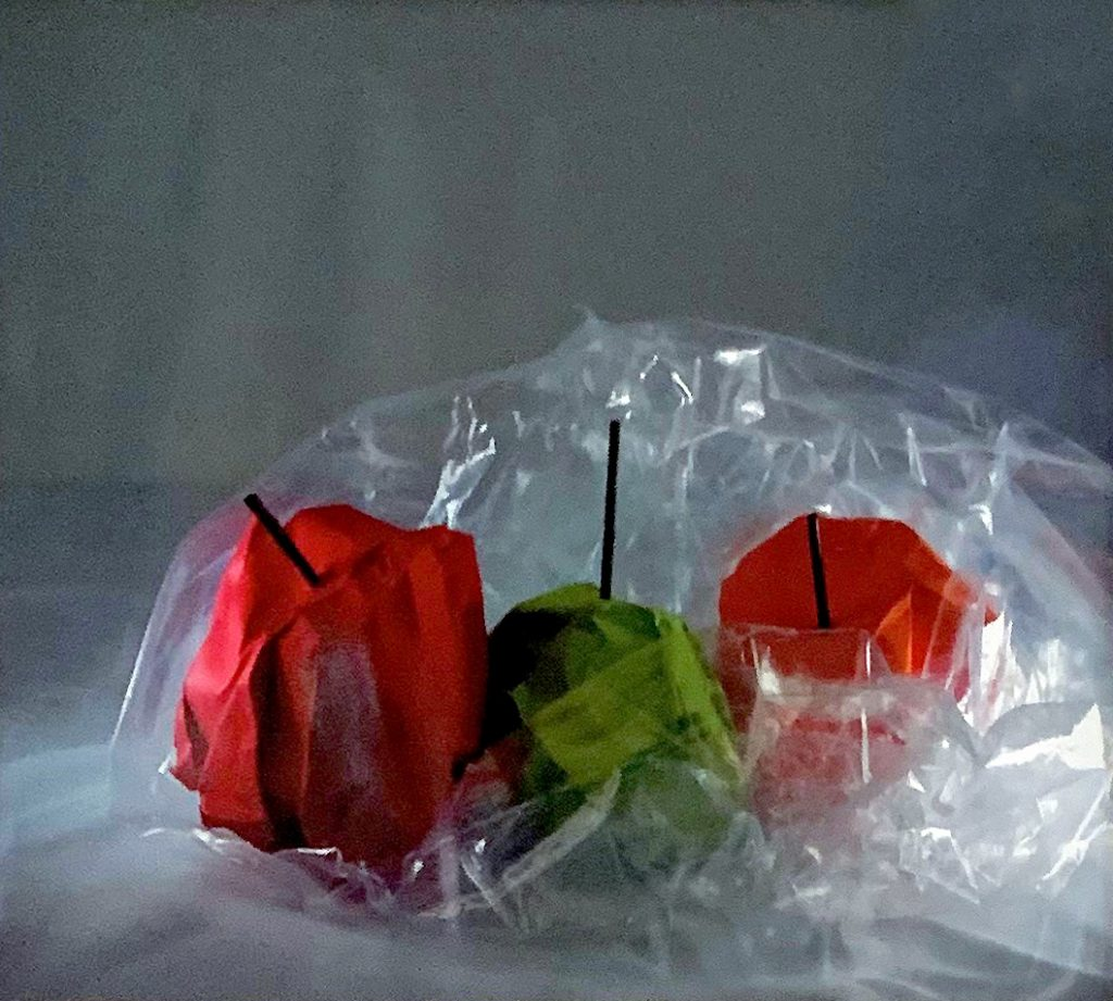 Student artwork of apples