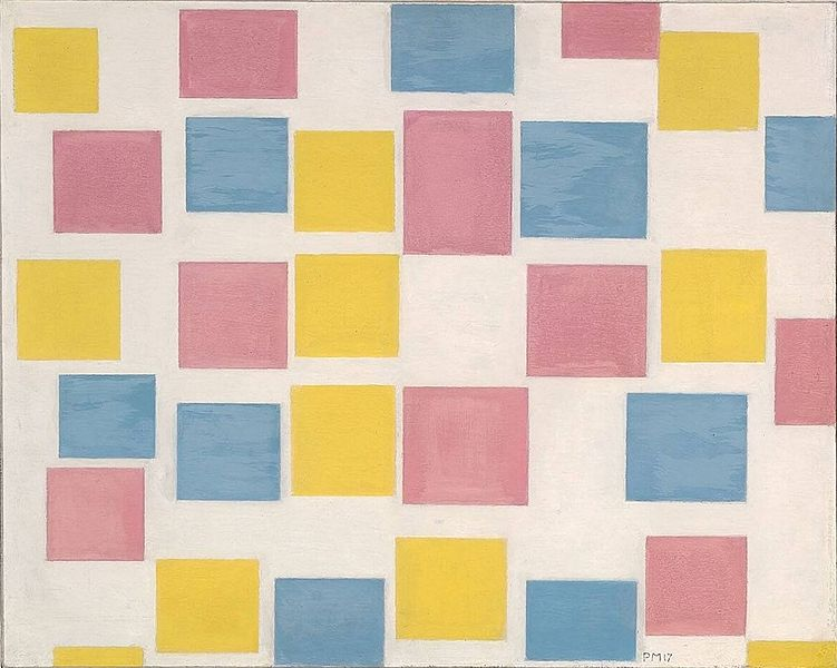 Piet Mondrian painting Composition with Color Fields