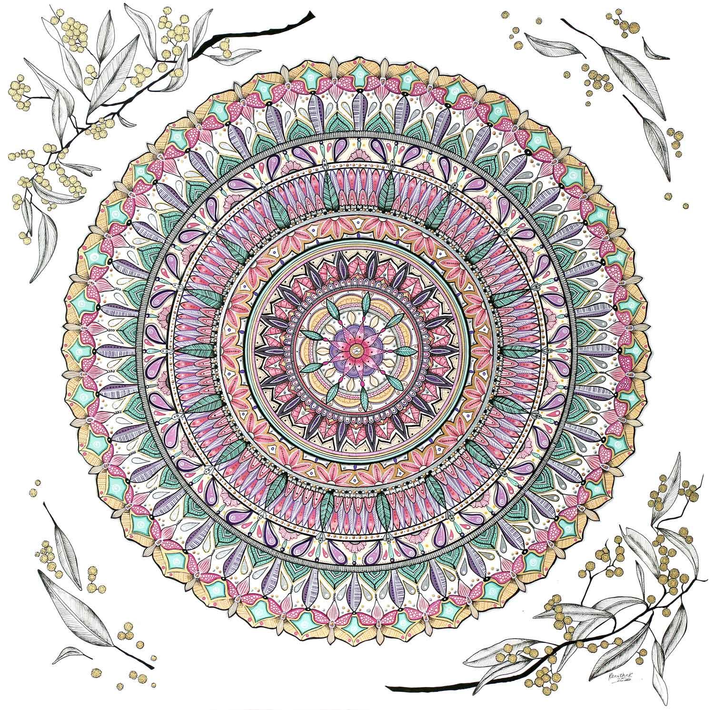 Student artwork of a mandala