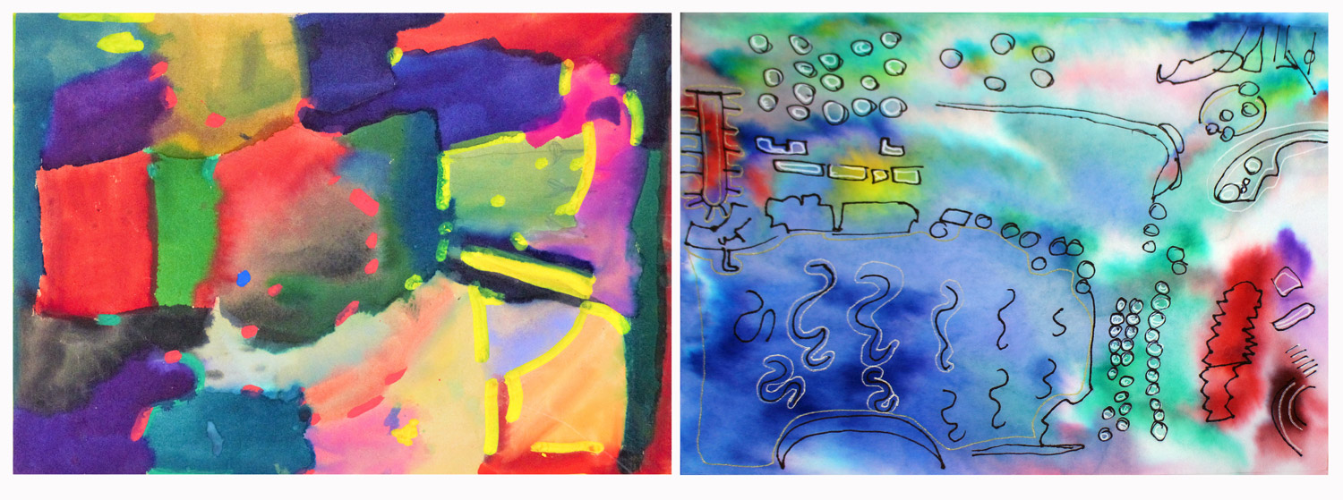 Student abstract artwork of their school